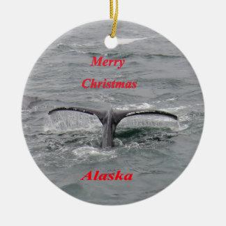 Conte de baleine ornement rond en céramique