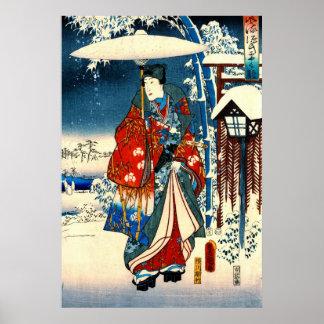 Conte de droite de Genji 1853 Posters
