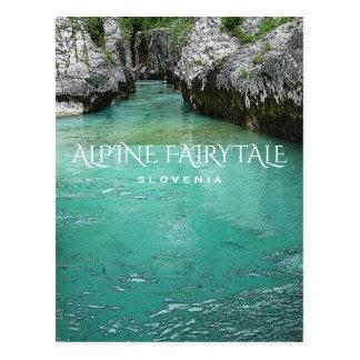 Conte de fées alpin carte postale