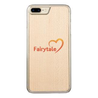 Conte de fées avec amour coque en bois iPhone 7 plus