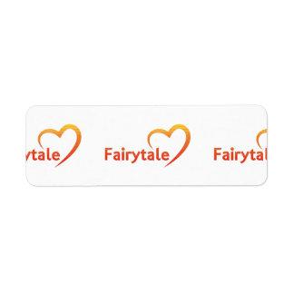 Conte de fées avec amour étiquettes d'adresse retour