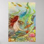 Conte de fées de sirène par Elenore Abbott Affiches