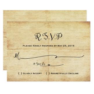 Conte de fées épousant la carte de RSVP - il était Carton D'invitation 8,89 Cm X 12,70 Cm