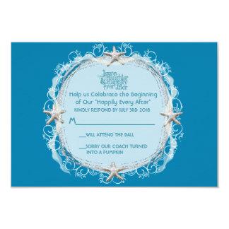 Conte de fées sous les étoiles de mer RSVP de mer Carton D'invitation 8,89 Cm X 12,70 Cm