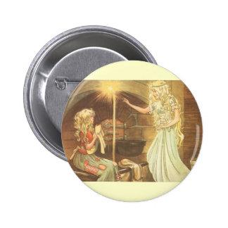 Conte de fées vintage, Cendrillon et marraine Badge