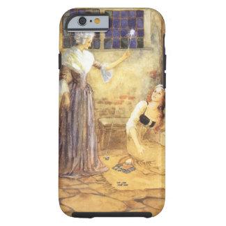 Conte de fées vintage, Cendrillon et marraine Coque iPhone 6 Tough