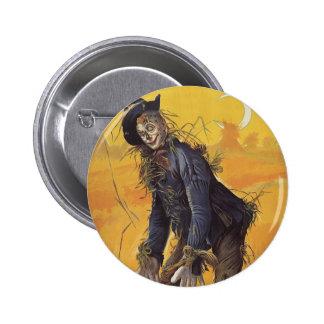 Conte de fées vintage, l'épouvantail de magicien badge rond 5 cm