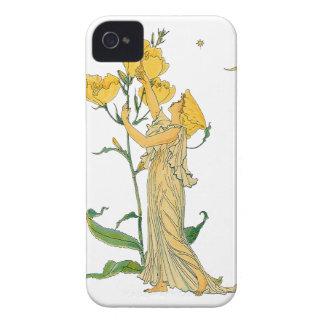 Conte de fées vintage, oenothère biennale, grue de coques iPhone 4 Case-Mate