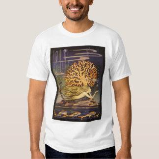 Conte de fées vintage, petite sirène dans le t-shirt