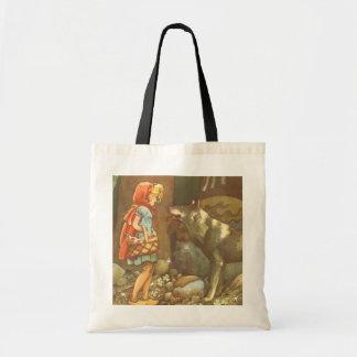 Conte de fées vintage, peu de capuchon rouge sac en toile budget