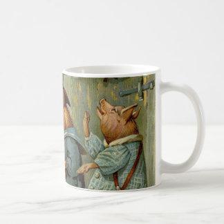 Conte de fées vintage, trois petits porcs mug blanc