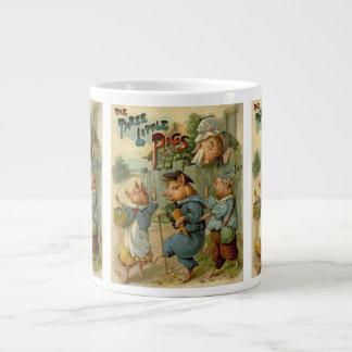 Conte de fées vintage, trois petits porcs mug jumbo