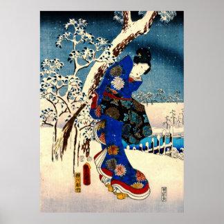 Conte de Genji 1853 laissé Posters
