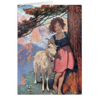 Conte de livre de contes des enfants classiques de cartes de vœux