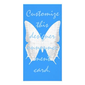 Conte de papillon de dentelle photocartes personnalisées