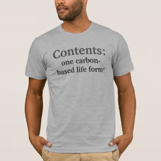 Contenu, déni de responsabilité t-shirt