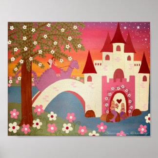 Contes de dragon - 8x10 princesse Fairytale Kids Posters