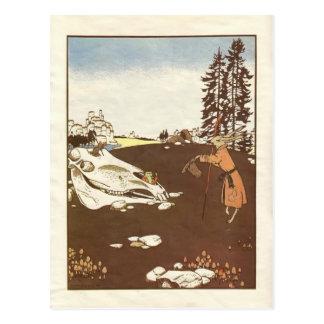 "Contes de fées de Heorhiy Narbut- "": Teremok. Carte Postale"