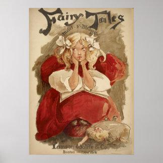 Contes de fées tubulaires vintages de Nouveau   Posters