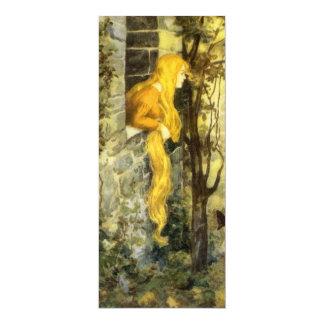 Contes de fées vintages, invitation de Rapunzel