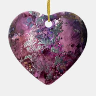 Contexte lumineux ornement cœur en céramique
