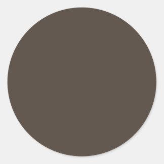 Contexte neutre chaud gris-foncé de couleur de sticker rond