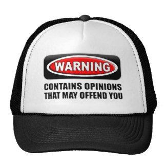 Contient des avis que peut vous offenser casquettes