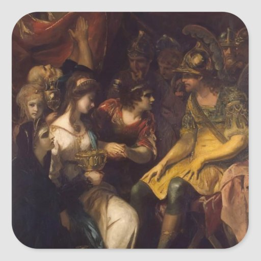 Continence de Joshua Reynolds de Scipio Autocollant Carré