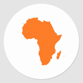 Continent de l Afrique Autocollants