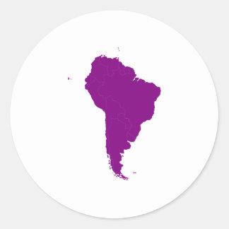 Continent de l Amérique du Sud Adhésif