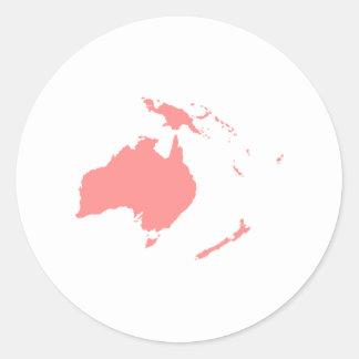 Continent de l Australie Autocollants Ronds