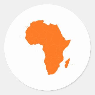 Continent de l'Afrique Autocollant Rond