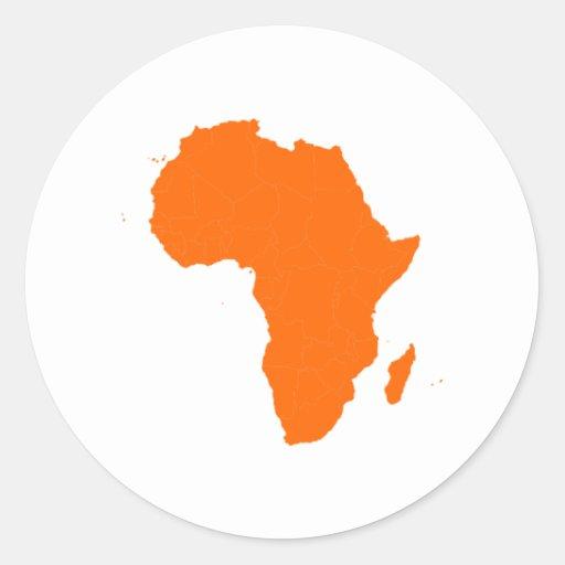 Continent de l'Afrique Autocollants