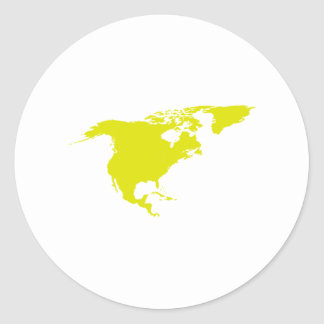 Continent de l'Amérique du Nord Sticker Rond