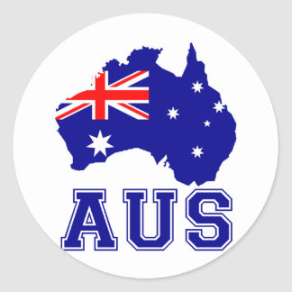 Continent de l'Australie Adhésif Rond