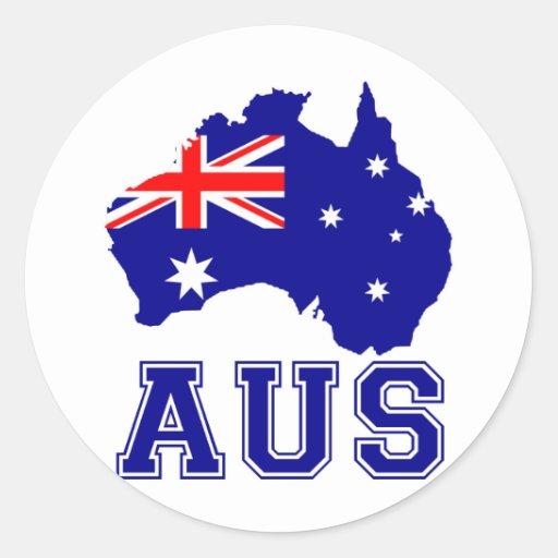 Continent de l'Australie Adhésif