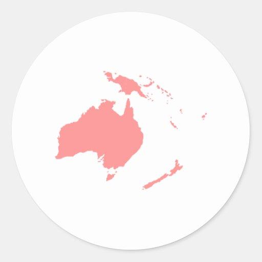 Continent de l'Australie Autocollants Ronds