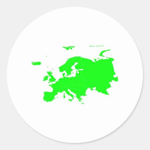 Continent de l'Europe Autocollant Rond