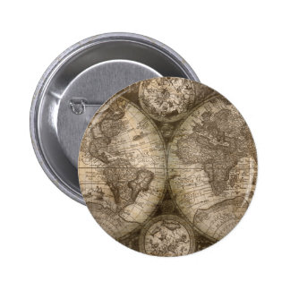 Continents historiques antiques de carte d'atlas pin's