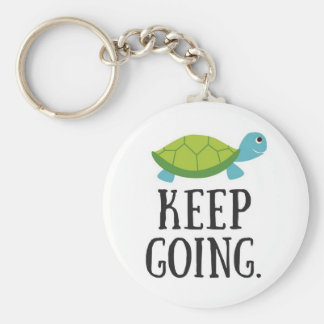 Continuez à aller porte-clé rond