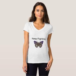 Continuez à combattre V - T-shirt de cou