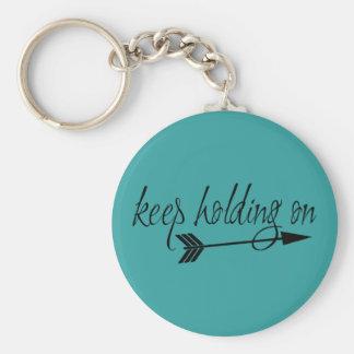 Continuez à tenir dessus le porte - clé porte-clé rond