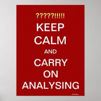Continuez analyser le slogan de motivation d'analy posters