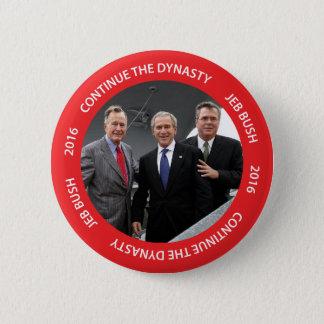 Continuez le bouton de Jeb Bush 2016 de dynastie Badges