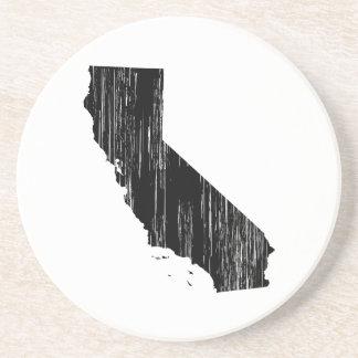 Contour affligé d'état de la Californie Dessous De Verres