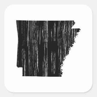 Contour affligé d'état de l'Arkansas Sticker Carré