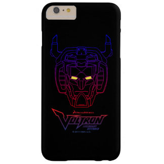 Contour Bleu-Rouge de tête de gradient de Voltron Coque iPhone 6 Plus Barely There