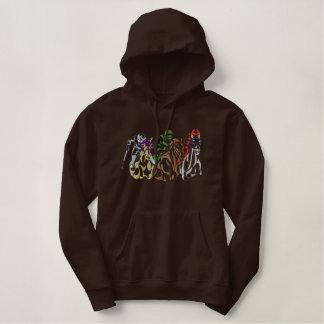 Contour de logo de cheval de course sweatshirt avec capuche
