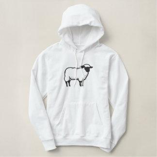 Contour de moutons sweatshirt avec capuche