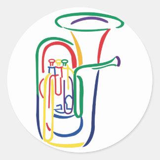 Contour de tuba sticker rond